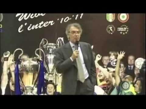 Massimo Moratti a Wivi l'Inter 2010