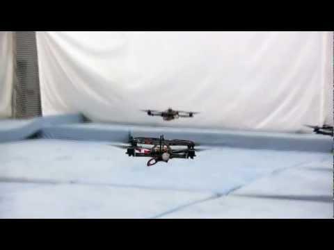 Fast Transitions of a Quadrocopter Fleet Using Convex Optimization