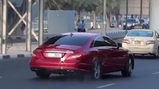CLS 63 AMG Mercedes-Benz - drift acceleration with awesome V8 Biturbo sound
