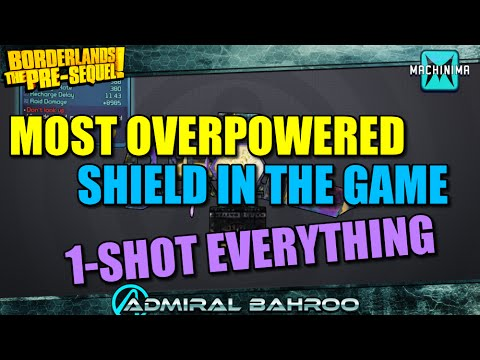 Borderlands Pre-Sequel: The Shooting Star. Most Overpowered Shield in The Game! 1 Shot Everything