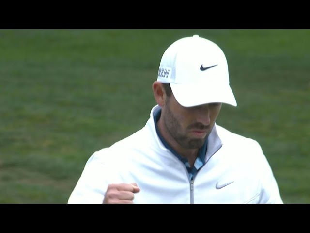 Charl Schwartzel pitches in for birdie at Cadillac Match Play