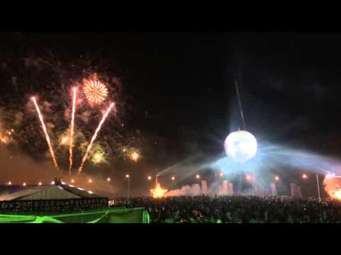 Bestival Disco Ball Fireworks 2014
