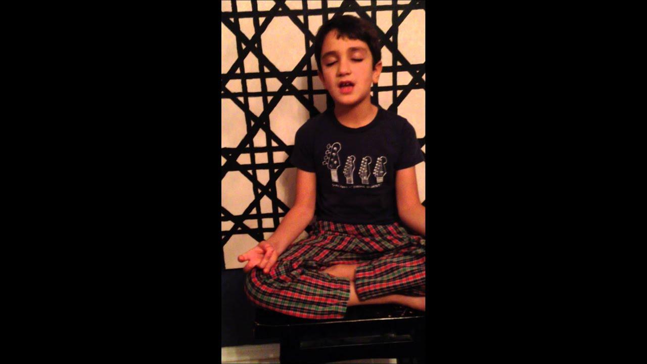 Mini Yogi Teaching Sa Ta Na Ma Meditation - Kids Yoga & Mantra ...