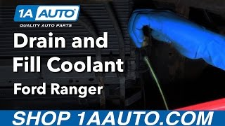 How to Drain Refill and Bleed Engine Coolant System 98-12 Ford Ranger
