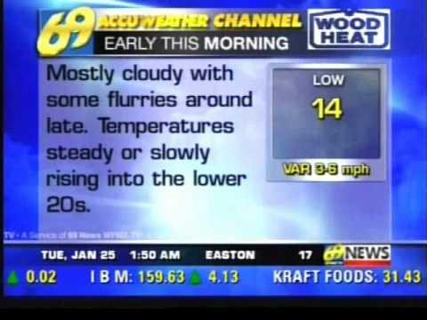 Weather Channel Songs on WFMZ 69 Accuweather 69 #3