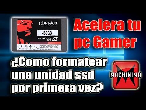 COMO DAR FORMATO POR PRIMERA VEZ A UNA UNIDAD SSD EN WINDOWS XP. WINDOWS 7. WINDOWS 8. WINDOWS 10.