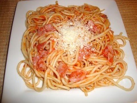 Receta de spaghetti o espagueti rojo comida mexicana
