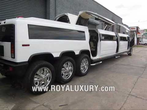 Triple Axle H2 Hummer JET DOOR limo limousine - www.ROYALUXURY.com