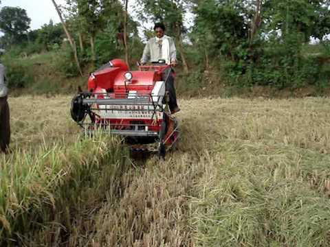 Mini harvester for Rice