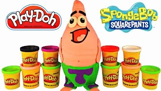 Giant Spongebob Out Of Water Surprise Egg Play Doh Patrick LEGO Hello Kitty Cars MLP Happy Meal