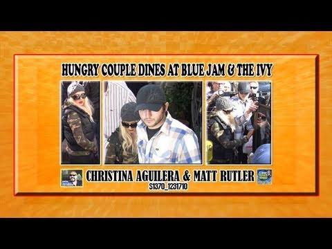 Christina Aguilera & Matt Rutler S1370 123110