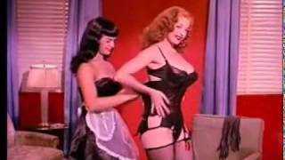 Bettie Page and Tempest Storm teaserama