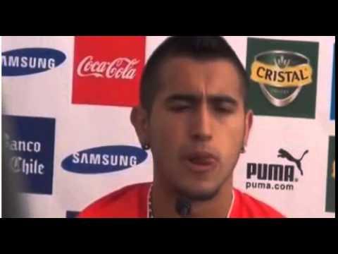 Arturo Vidal detained after crashing Ferrari – video report