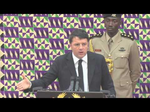 Matteo Renzi Italian Prime Minister visits Ghana