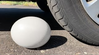 Crushing Crunchy & Soft Things by Car! - EXPERIMENT  CAR VS GIANT EGG