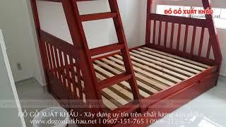 Giường ngủ hai tầng đẹp HAPPY HOME - Đồ Gỗ Xuất Khẩu huyện Nhà Bè TP HCM