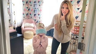 Everleigh seeing her baby sister's room makeover for the very first time!!! (Hilarious Reaction)