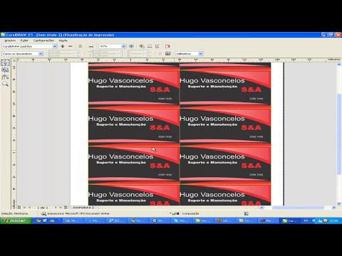 Criando um cartão de visita no Corel Draw X5