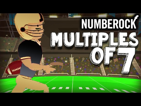 7 Times Table Song Rap: Skip Counting  7  Multiplication Song  NUMBEROCK