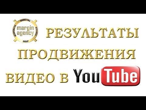 Результаты продвижения видео в Youtube (Раскрутка). Margin Agency