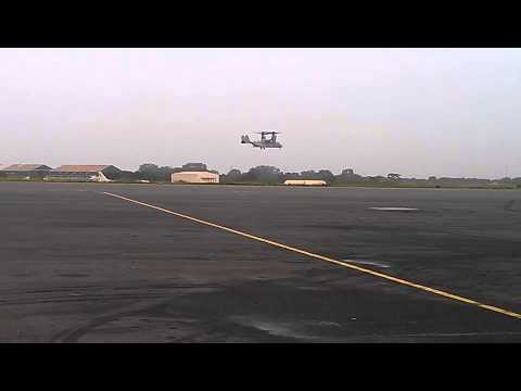 Two choppers landing at Kotoka Airport - Accra
