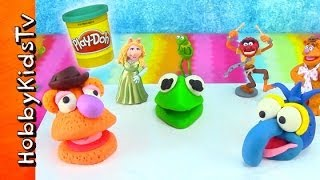 PLAY-DOH Muppets Most Wanted Movie, Surprise Toy Eggs [Kermit] [Fozzie] [Gonzo]