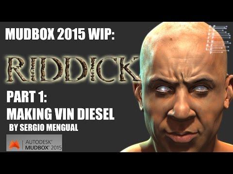 Mudbox 2015 Making Off  Vin Diesel - Riddick Fan Art