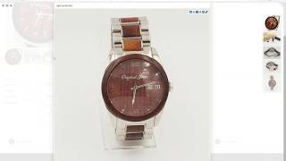 Watch For Sale: The Rosewood, Original Grain Wood & Steel Watch|Valueyourwatch.com