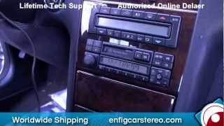 97 Mercedes E Class AUX input Installation and Demonstration