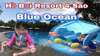 Vui Chơi Bãi Biển và Hồ Bơi Blue Ocean Resort Mũi Né - Gia Đình Sâu Sóc Đi Du Lịch