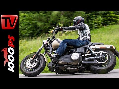 Harley Davidson Fat-Bob Test | Sound | Fahreindr�cke