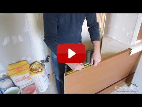 Установить межкомнатные двери своими руками видео