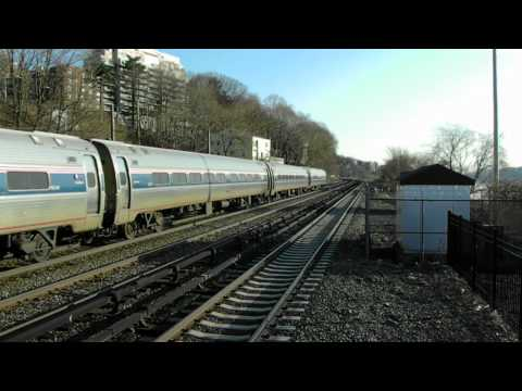 Metro-North and Amtrak Action at Greystone, NY