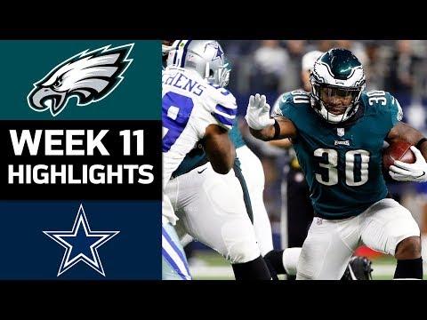 Eagles vs. Cowboys   NFL Week 11 Game Highlights