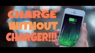 🔥😲 CHARGE YOUR PHONE WITHOUT CHARGER.