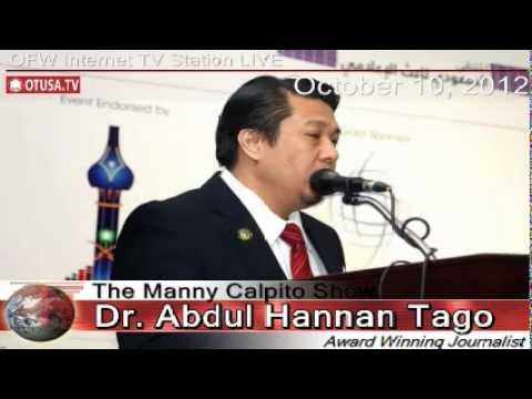 OFWs - Dr Abdul Hannan M Tago Interview RE: OFW in Saudi Arabia _ 10/10/2012_ The Manny Calpito Show