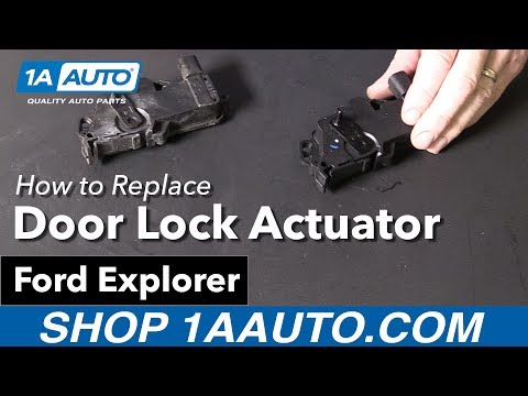 How to Replace Install Driver's Door Lock Actuator 02-10 Ford Explorer