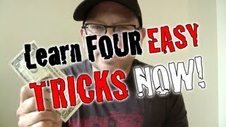 4 EASY Magic Tricks YOU CAN DO NOW!