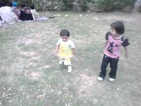 My cute daughters are playing in Karachi Zoo