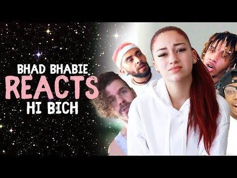 "Danielle Bregoli reacts to BHAD BHABIE ""Hi Bich / Whachu Know"" roasts and reaction vids thumbnail"