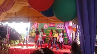 Smile girl Student in you bright School Dance