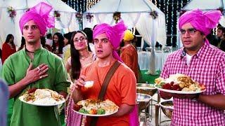 किसी भी शादी में घुस जाएंगे और फ्री का खाना खाएंगे - 3 इडियट्स - आमिर, माधवन, शरमन
