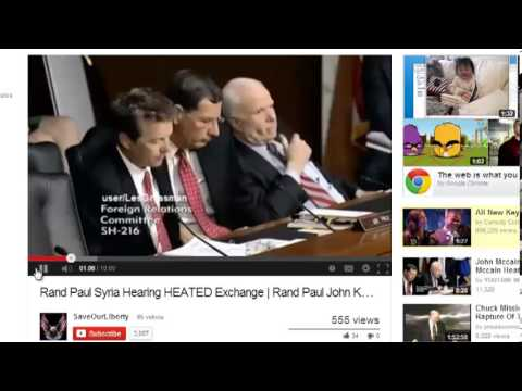 McCain Sends Kerry Secret Glances During Syria Hearings-- Realizes He's on Camera