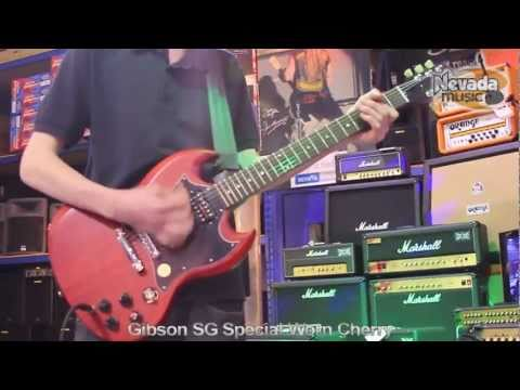 Gibson SG Special Worn Cherry Guitar Demo - Ed @ Nevada Music UK