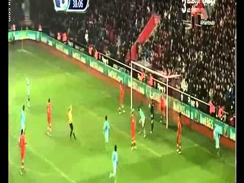 Full HD southampton vs manchester city 3 1 goals 09 02 2013