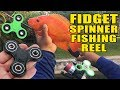 DIY FIDGET SPINNER Fishing REEL!!! It Catches Fish!