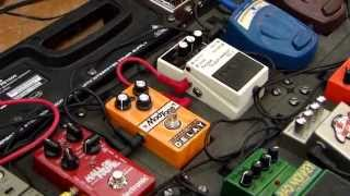 Boss Ns-2 Noise Suppressor Demo in behringer pb 1000 pedalboard