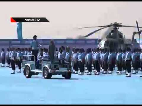 President Pranab Mukherjee at Air Force Station Jamnagar, Gujarat