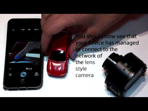 How to use the Sony QX10 and Qx100 with PlayMemories Mobile
