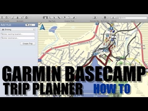 Garmin Basecamp How To Use Trip Planner & Yelp Search